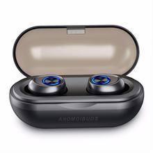 ANOMOIBUDS IP010-A TWS наушники V5.0 Bluetooth наушники глубокий бас Hi-Fi стерео звук беспроводной для samsung IPhone шумоподавление