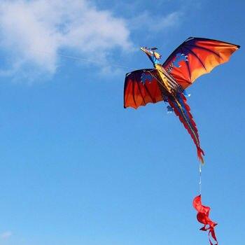3D Dragon 100M Kite Single Line With Tail Kites Outdoor Fun Toy Kite Family Outdoor Sports Toy Children Kids NEW 1