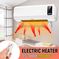 220V 2000W Wall Mounted Heater Timing Space Heating Machine PTC Air Conditioner Dehumidifier Household Heater With Hanging Rack