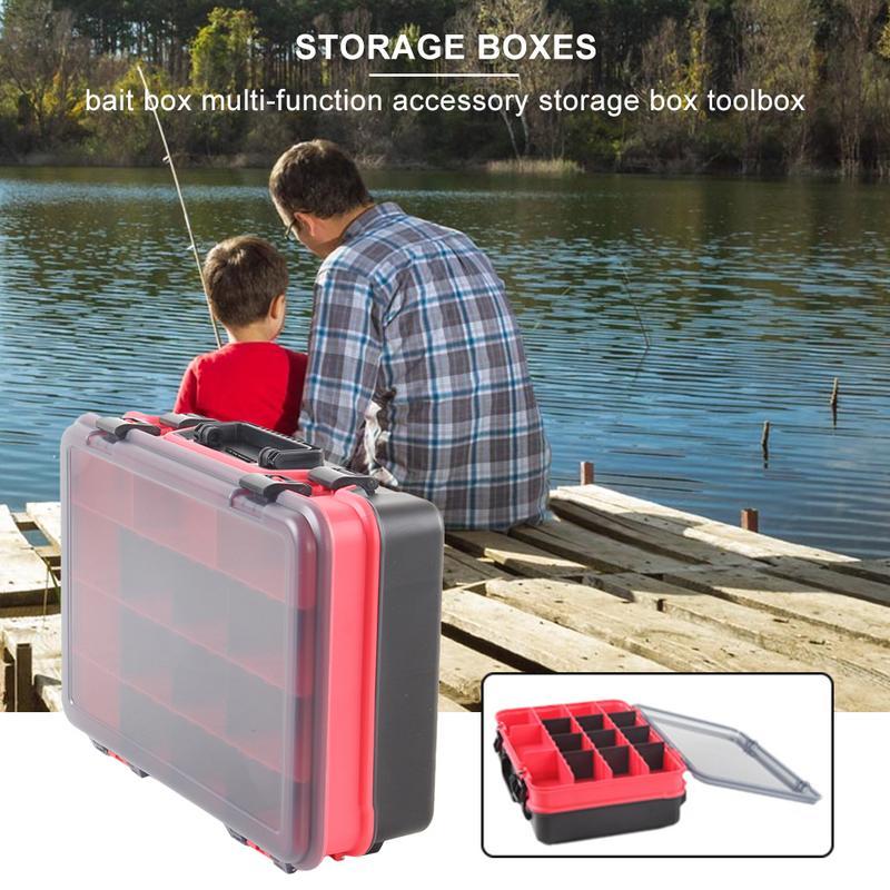 Boîte de matériel de pêche de grande capacité appât leurre crochets boîte appât mallette de rangement outil de pêche boîte de tri