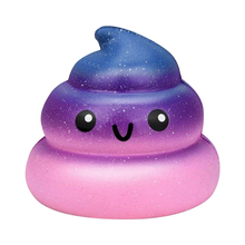 цена на Slow Rising toy, Soft Cute Fun Galaxy Poo Scented Slow Rising Jumbo Squishy Toys Decompression Toys Stress Relief Toys for Kid