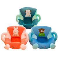 Cute Baby Cartoon Animal Seat Children Chair Neat Puff Skin Toddler Children Cover For Sofa Best Gifts Children's Plush Toy