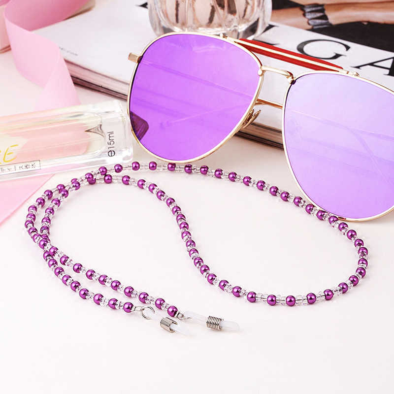 Eyeglasses Sunglasses Eyeglass Chain Pearl Beaded Sunglass Eyeglasses Reading Glasses Chain Cord Holder