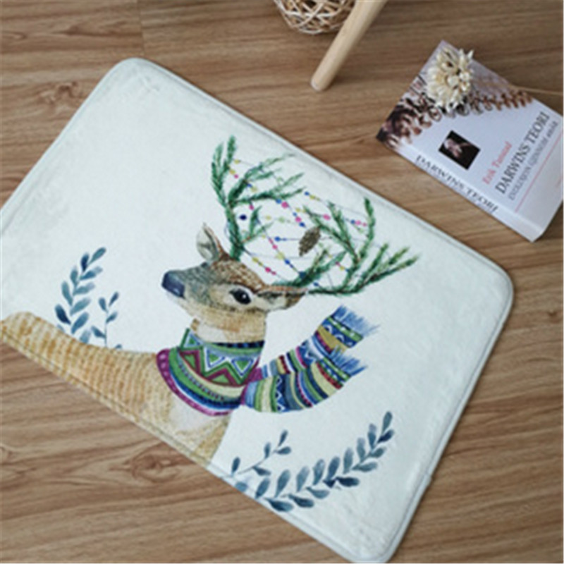 Home Indoor Machine Washable Floor Mat Rug Carpet Door Mat, 40 x <font><b>60</b></font> cm Non slip image