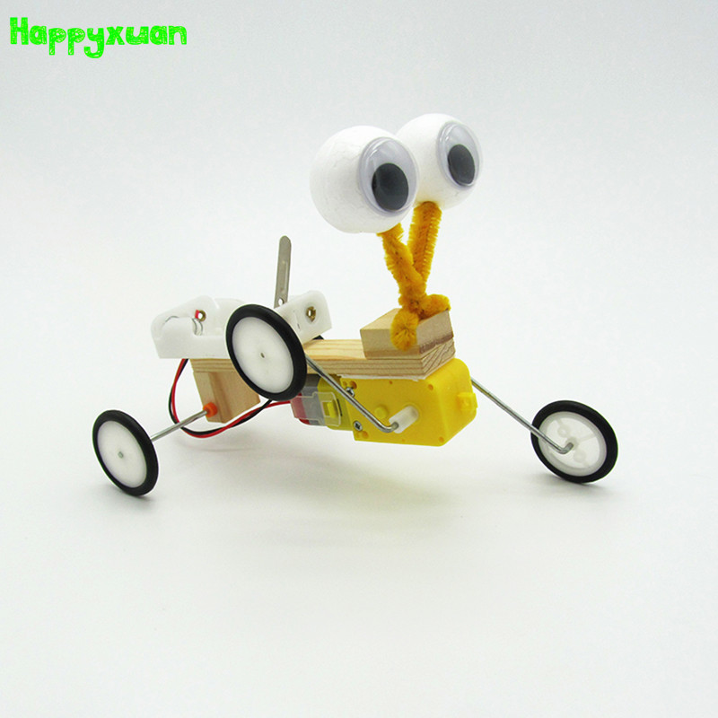 Happyxuan DIY Electric Reptile Model Fun Assembling Robot Creative Invention Scientific Experiment Toys Educational Gift diy wooden electric science walking robot toy model kit physical science experiment kit creative robot educational toys gifts