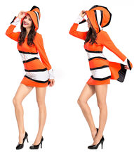 Marine Theme Party Dress Clown Fish Costume Sea Friend Nemo And Dory Cosplay Funny Fancy For Size