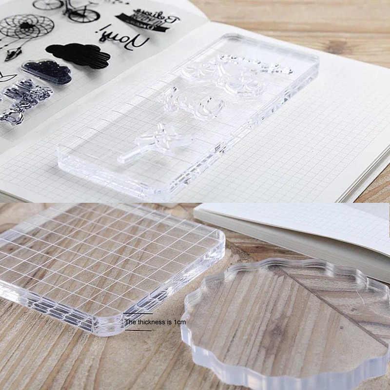 Bloco acrílico de alta transparência, para diy, selo transparente, bloco de carimbo para diy, scrapbooking, fotos transparentes, álbum, decorativo