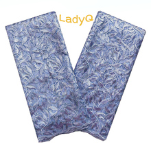Wholesale Luxury 2019 Latest Sequin Lace Fabric Plum High Quality African French Mesh Powder Blue Net