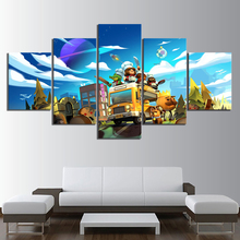 5 Piece Cartoon Pictures Overcooked 2 Game Canvas Printed Wall Home Decor For Living Room Poster Wholesale
