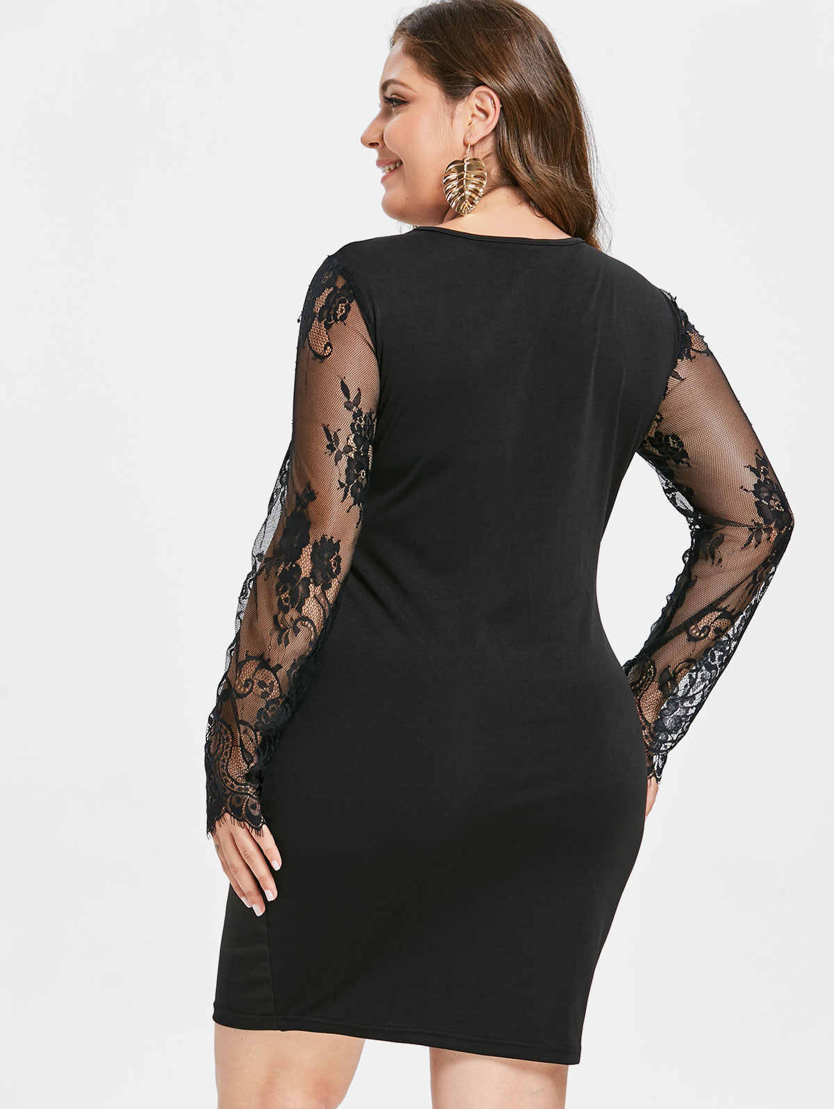 1a69a75894c ... Wipalo Plus Size 5XL Halter Sexy Night Club Wear Party Dresses Summer  2018 Lace Up Backless ...