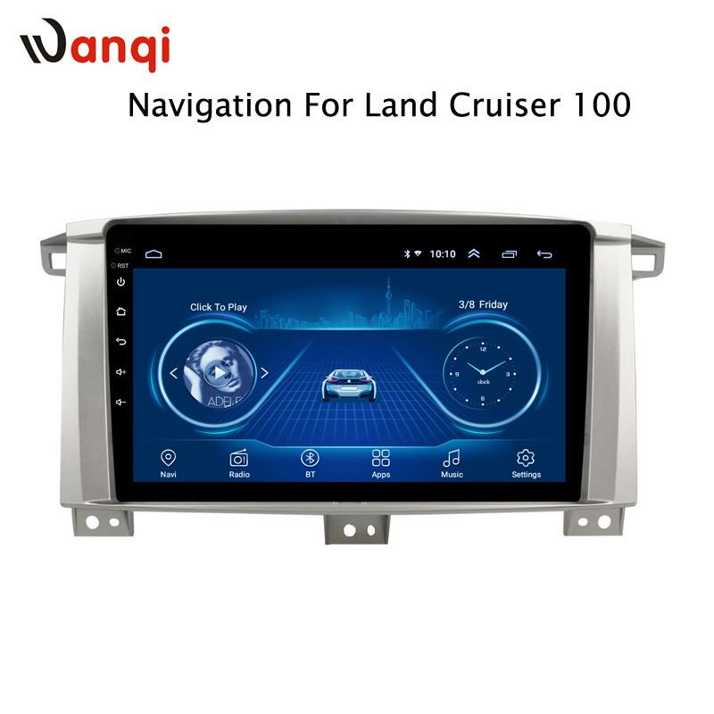 Android 8.1 Car Multimedia Player for Toyota LC 100 Land Cruiser 100 Navigation Built-in wifi BluetoothAndroid 8.1 Car Multimedia Player for Toyota LC 100 Land Cruiser 100 Navigation Built-in wifi Bluetooth