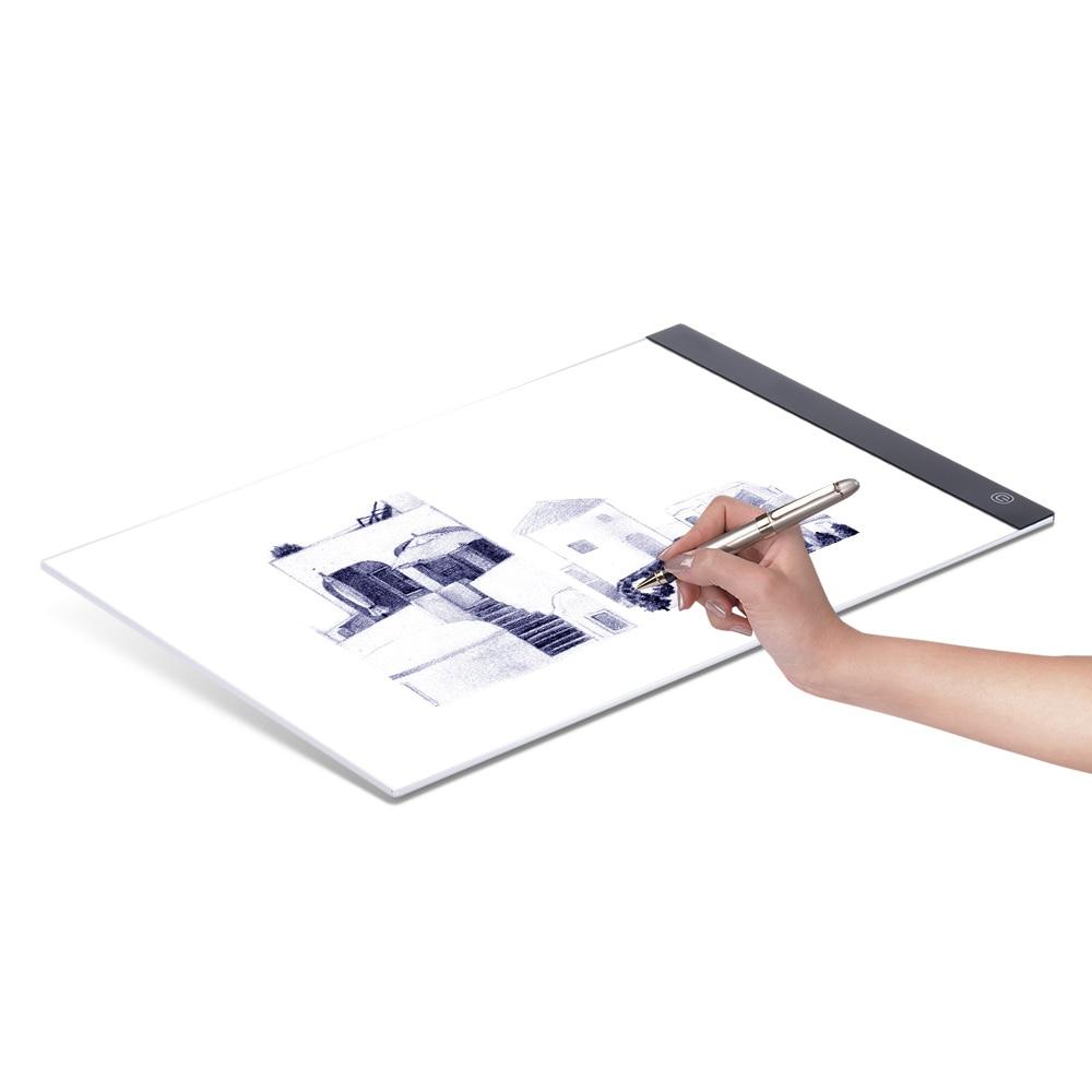 Tableta gráfica LED, caja de luz de escritura, tablero de rastreo, almohadillas de copia, tableta de dibujo Digital, tabla de copia Artcraft A4, tablero LED