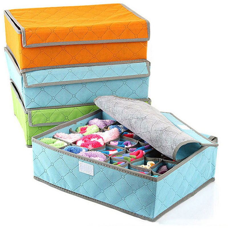 Case-Bag Socks Underwear Storage-Box Drawer Organizers Non-Woven-Fabric Bra  title=