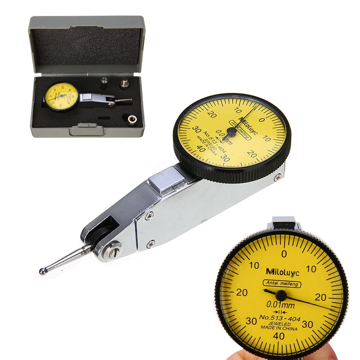 Preciso Dial Medidor Indicador de Teste de Precisão Métrica com Trilhos Cauda de Andorinha Montar 0-40-Mayitr 0 0.01 milímetros de Medição ferramenta instrumento