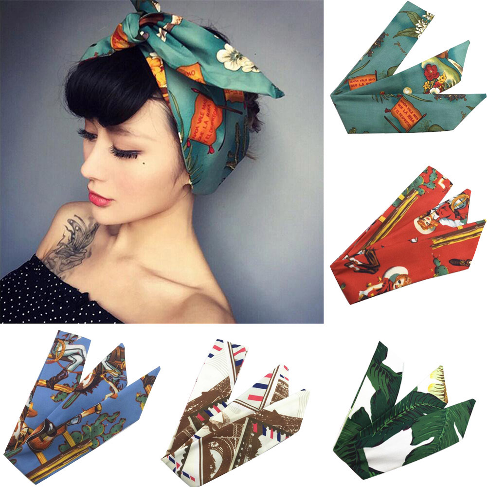 Women Girls Bohemia Headband Headwear Cute Bunny Ear Metal Wire Headbands Retro Cross Turban Bandage Hairbands Hair Accessories