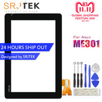 SRJTEK Digitizer For Asus MeMo Pad Smart 10 ME301 Touch ME301T 5280N FPC 1 Touchscreen Glass Sensors Tablet Screen Replacement