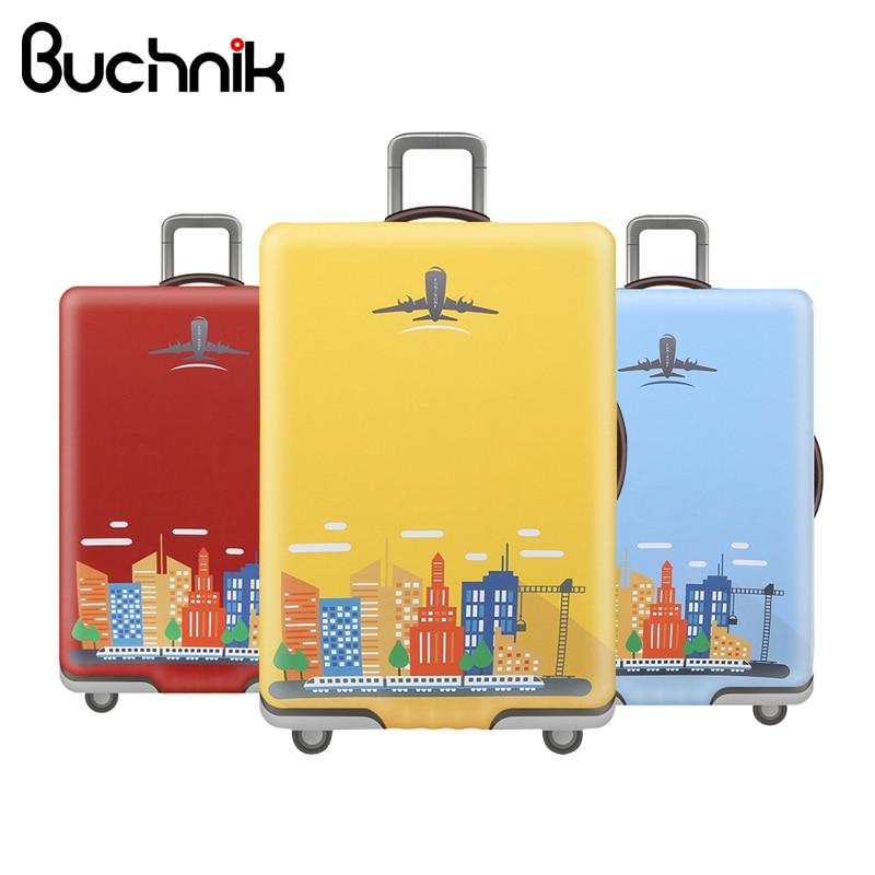 BUCHNIK Waterproof Elastic Luggage Cover Cartoon Trolley Suitcase Student Men Protect Dust Bag Case Travel Accessories Supplies