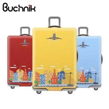 f541693cf BUCHNIK impermeable elástica equipaje cubierta de dibujos animados maleta  Trolley estudiante hombres proteger polvo bolso caso viajes Accesorios