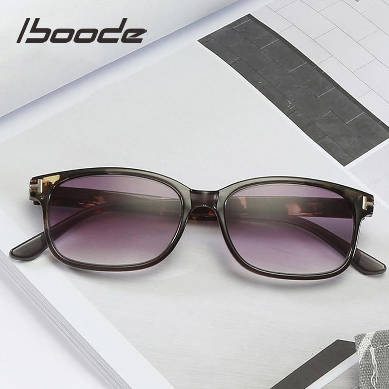 Iboode HD Reading Sun Glasses Women Men Gradient Tea/Gray Lens Presbyopic Glasses Unisex Reading Eyewear Diopters + 1.0 1.50 2.5