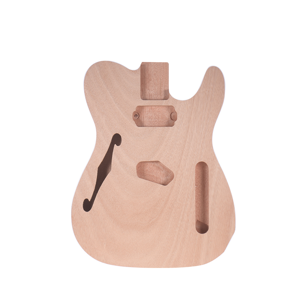 Muslady Unfinished Electric Guitar Body Blank Guitar Body Barrel DIY Mahogany Wooden Body Guitar Parts Accessories