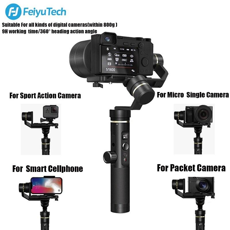 FY Cardan FEIYUTECH G6 Plus Handheld Estabilizador 3-axis WIFI Bluetooth Tela OLED para a Ação Da Câmera Digital Câmeras de Smartphones
