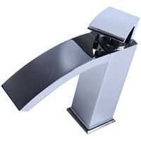 NEW Modern Monobloc Basin Sink Mixer Tap with Chrome Finish, Waterfall Sink Tap Faucet for Bathroom and Kitchen