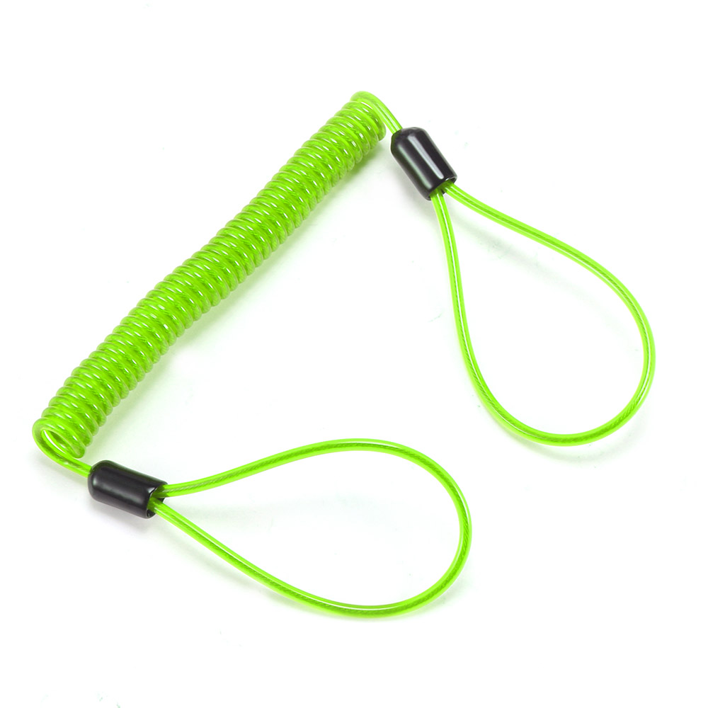 Spring Motorcycle Bike Reminder Alarm Cable Wire Elastic Rope Lock Security LD