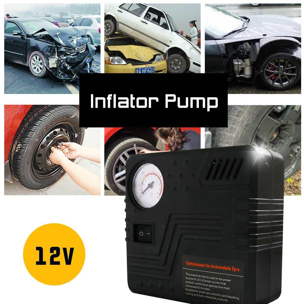 12V Portable Mini 19 Cylinders Car Auto Air Compressor Digital Tyre Automobile Electric Wheel Tire Fast Inflator Pump