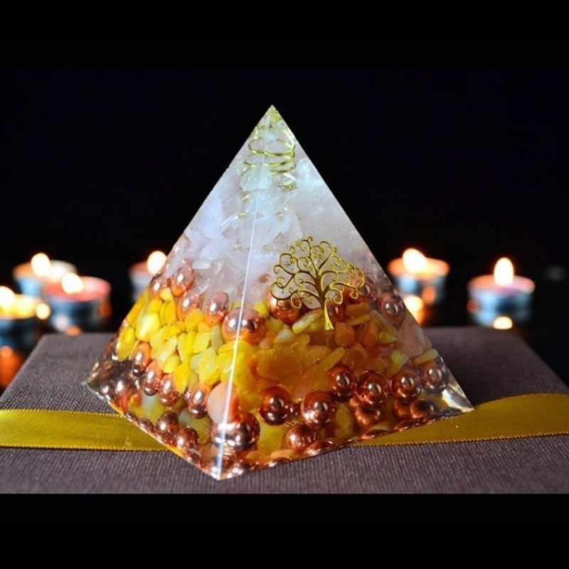 Orgonite Năng Lượng Kim Tự Tháp Nhựa Trang Trí Thủ Công Trang Sức Nhà Rune Trang Trí Đá Thay Đổi Từ Trường Của Cuộc Sống Wicca