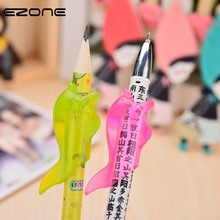 EZONE 3PCS/Set Pencil Grip Shark Shape Correct Kids Pen Grip Tool Right Left Silicone Writing Aids Creative Students Stationery