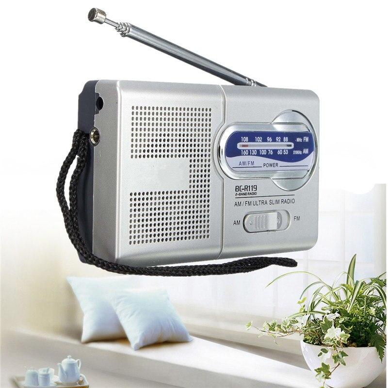 Tragbares Audio & Video Kleine Schlanke Stereo Radios Am/fm Tragbare Mini Radio Welt Empfänger Teleskop Antenne Kopfhörer Powered Radiogift