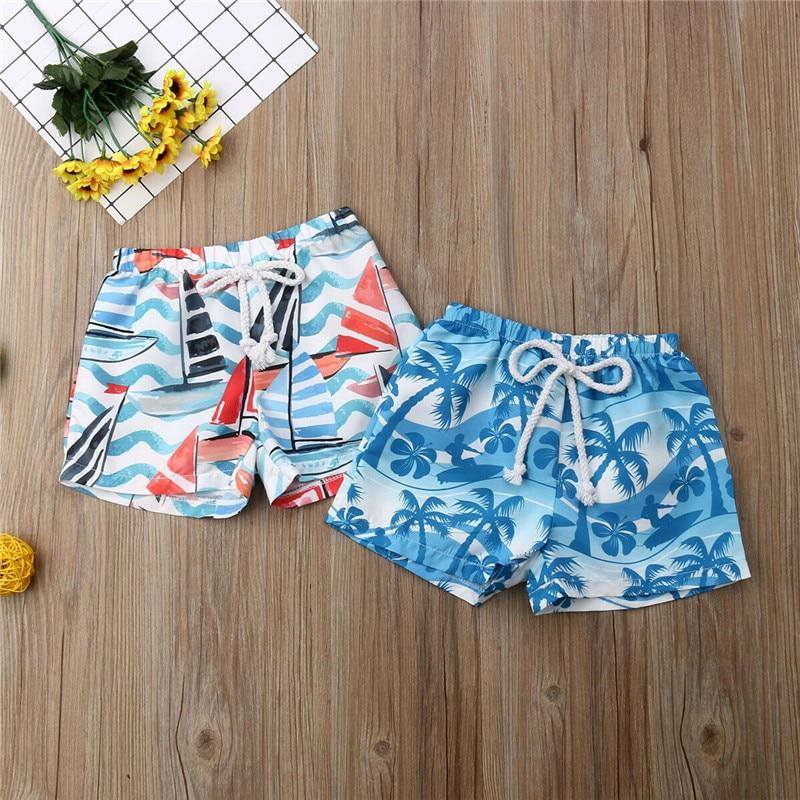 Boy Kid Swimming Shorts Swimwear Summer Beach Swim Trunks Pants Clothes 0-6T