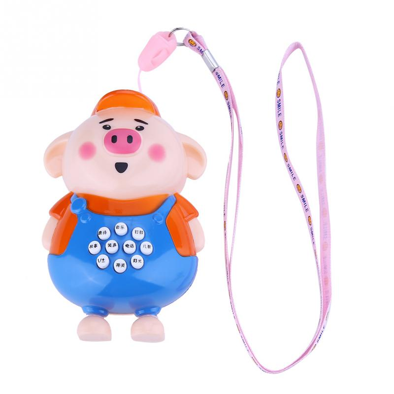 Child Puzzle Music Toy Dancing Pig Singing Electronic Toys Baby Interactive Toys Baby Kid Early Learning Story Cartoon Gift