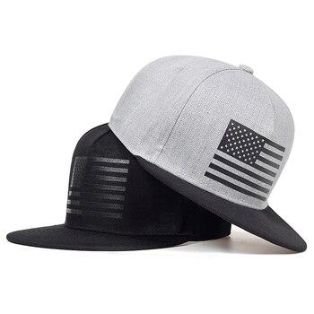 Wysokiej jakości flaga ameryki nadruk bejsbolowy czapka mężczyźni hiphop czapki z daszkiem ulica fajne modne taniec uliczny kapelusz mężczyźni kobiety codzienny kapelusz