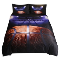 LUDA Basketball Printed Bedding Sets Duvet Cover Set 3Pcs Bed Set Twin Double Queen Size Bed Linen Bedclothes(No Sheet No Fill