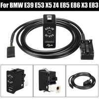 Car AUX USB Port 12 Pin bluetooth Interface Switch Panel Music Adapter for BMW for Mini Cooper E39 E53 X5 Z4 E85 E86 X3 E83