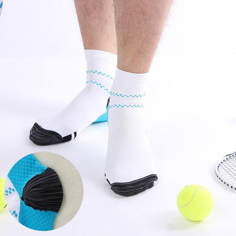 1 Pair Elastic Sports Compression Socks For Men Low Cut Short Ankle Socks Men Breathable Fitness Short Socks Streetwear