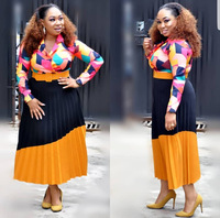 2018 autumn sexy fashion african women plus size printing dress