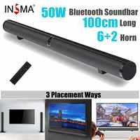 50W 100 centimetri HiFi Staccabile Senza Fili di bluetooth Soundbar Altoparlante 3D Surround Stereo Subwoofer per la TV Sistema Home Theatre Audio bar