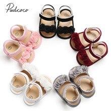 Детские летние сабо 0-18 м для новорожденных девочек принцесса цветочные сандалии кроссовки для малышей Мягкая Обувь для малышей