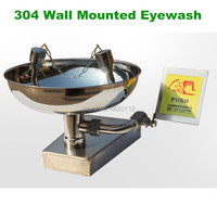 Best Stainless Steel Safety Equipment Emergency Eye Wash Station Wall Mounted Eye Wash Bowl Washer Fist Aid Tool|Tool Parts|Tools -