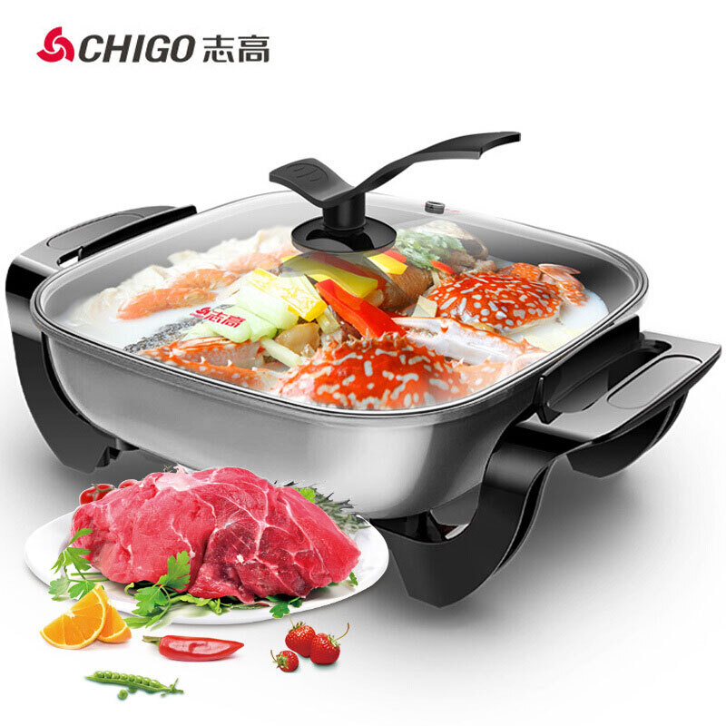 Electric Skillet Electric Hot Pot Household Multi-function Electric Frying Pan Electric Cooker Non-stick PotElectric Skillet Electric Hot Pot Household Multi-function Electric Frying Pan Electric Cooker Non-stick Pot