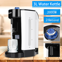 Electric Water Boiler Instant Heating 3L Electric Kettle Water Dispenser Adjustable Temperature Coffee Tea Maker Office 2000W
