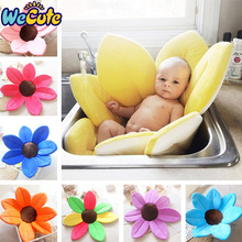 Wecute Baby Boy Girl NewBorn Soft Bathtub Blooming Flower Shape Mat Cute Foldable Infant Shower Play Bath Cushion For Gift