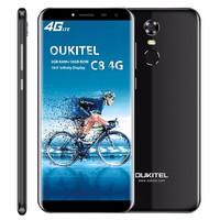 Oukitel C8 4g Cellphone 18:9 Ratio 5.5 Infinity Display Smartphone 3000 Mah 13mp+5mp 2g Ram 16g Rom Fingerprint Mobile Phone