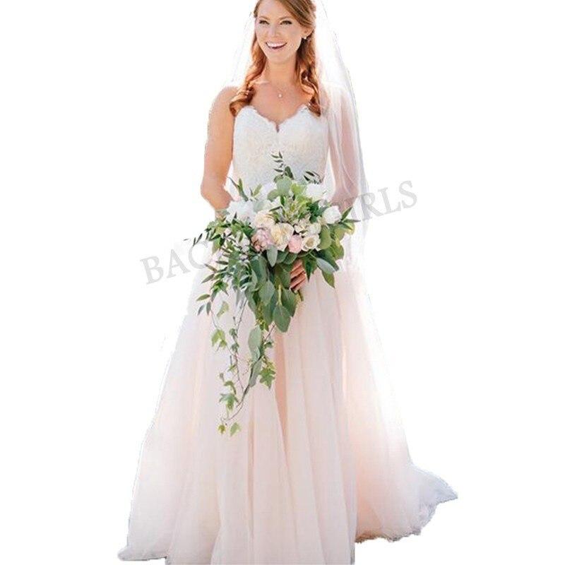 Top Lace Appliques Wedding Dresses 2019 Simple Design
