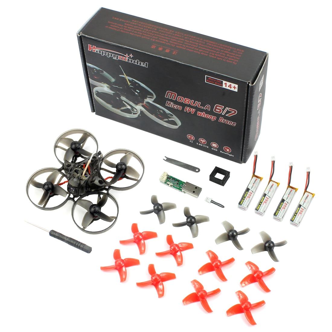 Happymodel Mobula7 75 мм Crazybee F3 Pro OSD 2 S BWhoop FPV скоростные дроны Квадрокоптеры w/обновления BB2 ESC 700TVL БНФ совместим Frsky