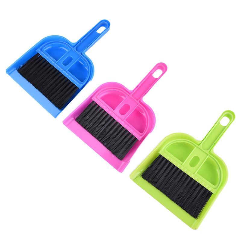 Cleaning Kit Hamster Dustpan Broom Sweep Kit For Small Pet Squirrel Guinea Pig Chinchilla Ferret Rabbit Small Pet Clean Supplies