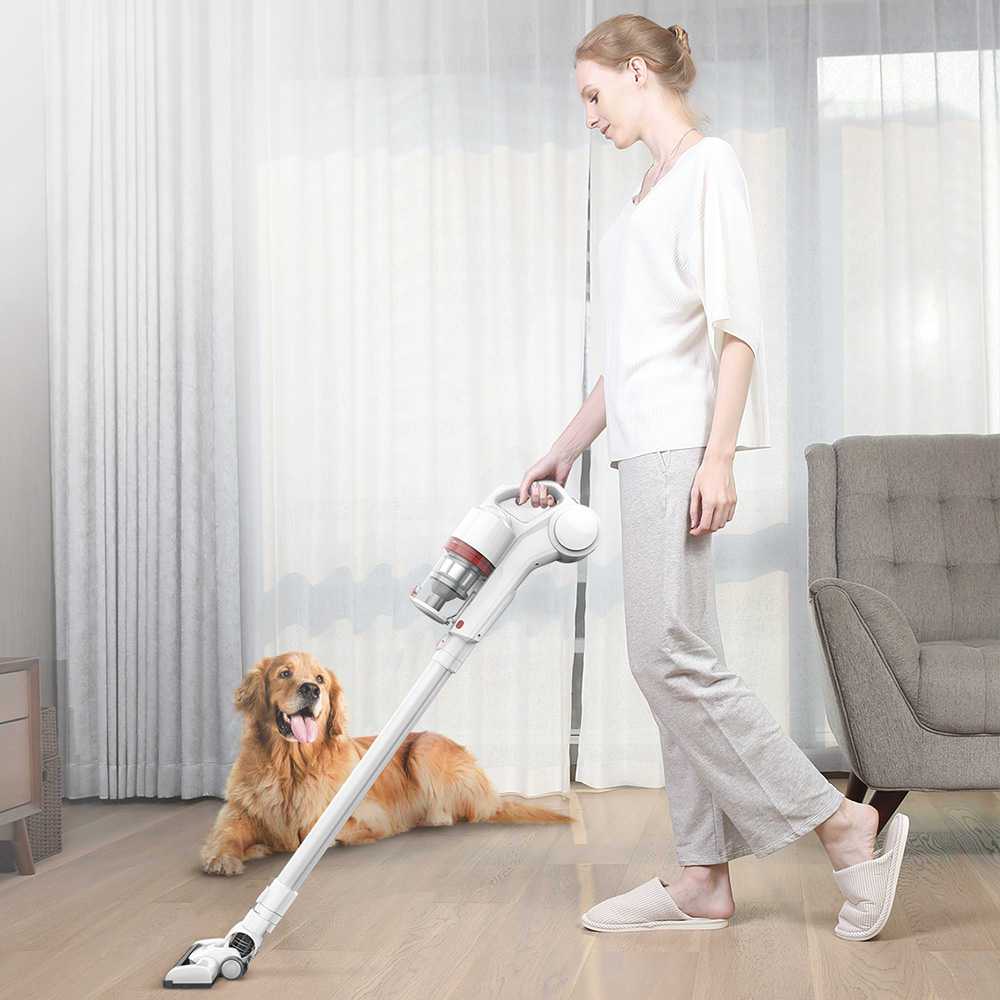Dibea 2-In-1 Handheld Cordless Vacuum Cleaner Strong Suction Dust Collector Wireless Vacuum Cleaner With Wall Hanging Rack DW200