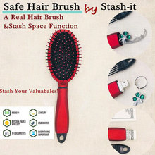 Real Hair Brush Comb & Secret Box Stash Space Hollow Container for Jewellery Mon
